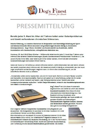 Pressemitteilung Dogs Finest April 2015